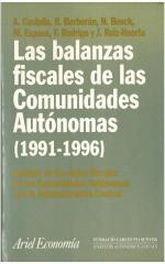 Las balanzas fiscales de las Comunidades Autónomas (1991-1996)