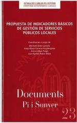 23. Propuesta de indicadores básicos de gestión de servicios públicos locales