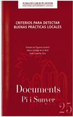 25. Criterios para detectar buenas prácticas locales