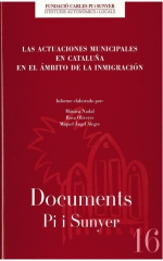 16. Las actuaciones municipales en Cataluña en el ámbito de la inmigración