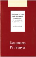 3. El acceso de los entes locales al Tribunal Constitucional y la protección de la autonomía local