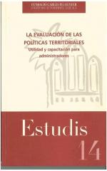 14. La evaluación de las políticas territoriales. Utilidad y capacitación para administradores