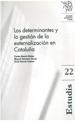 22. Los determinantes y la gestión de la externalización en Cataluña
