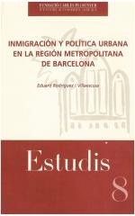 8. Inmigración y política urbana en la región metropolitana de Barcelona
