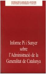 Informe Pi i Sunyer sobre l'Administració de la Generalitat de Catalunya