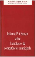 Informe Pi i Sunyer sobre l'ampliació de competències municipals