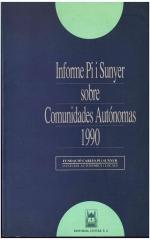 Informe Pi i Sunyer sobre Comunidades Autónomas 1990