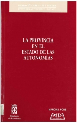 1. La provincia en el estado de las autonomías