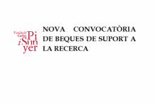 Convocatòria específica per a l'atorgament de beques de col·laboració en suport a la recerca a la Fundació Carles Pi i Sunyer