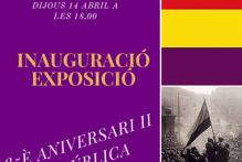 Inauguració a l'Institut Viladomat de l'exposició 85è aniversari II República