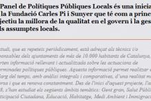 Convocatòria d'1 beca de col·laboració en suport a la recerca per al Panel de Polítiques Públiques de la Fundació Carles Pi i Sunyer