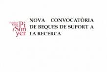 Convocatòria específica per a l'atorgament de beques de col·laboració en la recerca per a l'equip d'investigadors de la Fundació Carles Pi i Sunyer