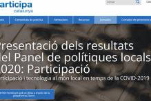 Resultats de la jornada:  Presentació dels resultats del Panel de polítiques locals 2020: Participació